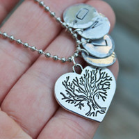Personalized Mothers Necklace, Gift for Mom, Monogram necklace, personalized jewelry, four initial necklace, family necklace, family tree