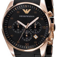 Armani Stainless Steel Case Chronograph Black Dial Watch AR5905