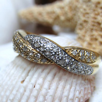 14k Diamond Ring .46cttw Braided Design 3.47 grams Size 8