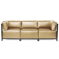 Shimmer Gold Axis 3pc Sectional - Titanium Frame