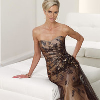 Mother of the Bride Dresses – Montage by Mon Cheri 112924 Long Strapless
