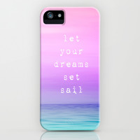 Let Your Dreams Set Sail iPhone & iPod Case by Ally Coxon
