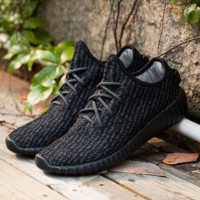 Black Running Breathable Shoes Sports Casual Athletic Sneakers Shoes