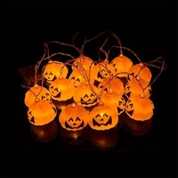 2018 New 1 Set Pumpkin Skull 16 LED String Lights Halloween Decoration Lights Warm White Halloween Home Decoration Accessories