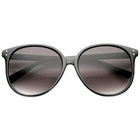 Colorful Retro P3 Round Indie Horned Rim Sunglasses 9698