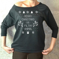Winter Women's Fashion Pattern Print Pullover Ugly Christmas Sweater [9475939844]
