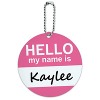Kaylee Hello My Name Is Round ID Card Luggage Tag