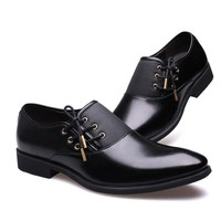 Men Casual Shoes Luxury Business  Genuine Leather Lace-Up Oxfords