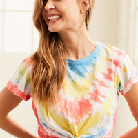 BDG Hang Tight Knotted Tee | Urban Outfitters