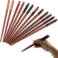 New Arrival High Quality Tableware Japanese Green Natural Iron Wood Eco-friendly Chopsticks Set Value Gift Pack