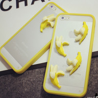3D Banana iPhone 5s 6 6s Plus creative case Gift-141