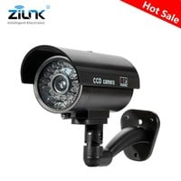 Fake Dummy Waterproof Camera | Outdoor Indoor Security CCTV Surveillance Camera Flashing Red LED