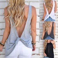 Women Backless Sexy Tops
