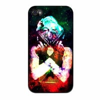 Marilyn Monroe Tattooed Flower With Pistol Gun Galaxy iPhone 4 Case
