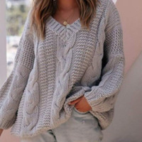 New explosion models loose twisted sweater women
