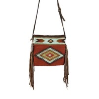 MZ Colornation Fair Trade Leather Fringe Bag