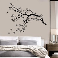 Vinyl Wall Decal Beautiful Tree Branch Nature Flowers Sakura Stickers Unique Gift (784ig)