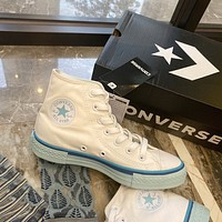 Converse All star high-top white/blue canvas shoes