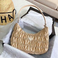 Prada Spring New Fold Bag Hobo Fold Random Simple Muilt-Color Optional
