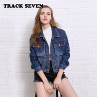 Autumn Women Loose Jeans Long Sleeve Outerwear Jacket Top a12983