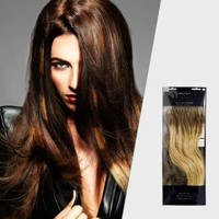 Balmain Fill-in Ombre Extensions 40cm Straight 50 Pack Colour Amsterdam - Perfect for Risk Free colour 100% Human Hair