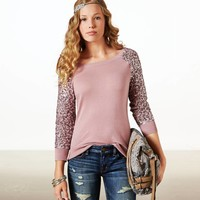 AE Sequin Sleeve Sweater   American Eagle Outfitters