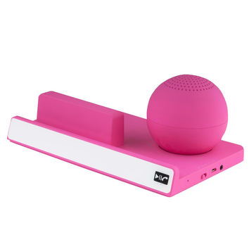 Supersonic Portable Bluetooth Speaker with Stand-Pink
