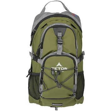TETON Sports Oasis 1100 Hydration Pack; Free 2-Liter Hydration Bladder; For Backpacking, Hiking, Running, Cycling, and Climbing Green