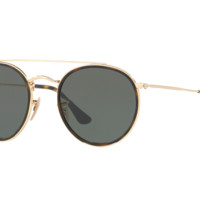 Sunglasses Ray-Ban RB3647N 001 GOLD/LENS GREEN