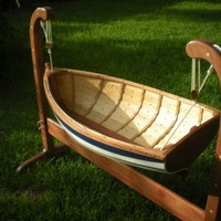 Baby Tender Rocking Cradle by BeaverBoatworks on Etsy