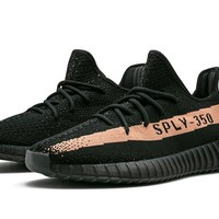 Adidas Mens Yeezy Boost 350 V2 Black/Copper Fabric