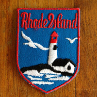 Rhode Island Vintage Travel Patch
