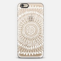 Radiate in White on Clear iPhone 6 case by Tangerine- Tane | Casetify