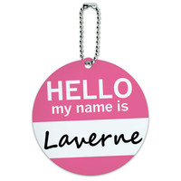 Laverne Hello My Name Is Round ID Card Luggage Tag