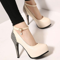 Female Casual Round Toe Pumps Heels