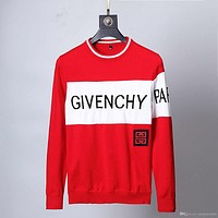 Givenchy Russia New men's sweater pullover brand ladies letter embroidery long sleeve luxury sweater knitwear winter clothing13-
