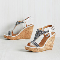 Right Side of the Bead Wedge in Silver | Mod Retro Vintage Heels | ModCloth.com