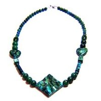 Chrysocolla Natural Stone Necklace