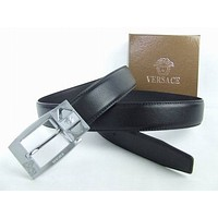 VERSACE COLLECTION MENS GOLD PLATE DETAIL LEATHER BELT>BNIB>£179>GENUINE>SIZE 85