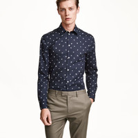 Shirt in premium cotton - from H&M