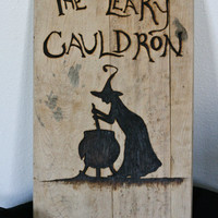The Leaky Cauldron Harry Potter inspired wall hanging