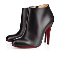 Christian Louboutin Cl Belle Black Leather Ankle Boots 3140068bk01 -