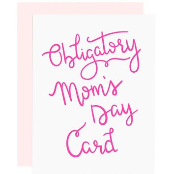 Mom's Day letterpress card