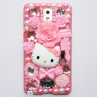 Cute Fashion Hello Kitty Plastic Case For Samsung Galaxy Note3 Cover Phone Cases For Galaxy Cases Mobile Phone Shell