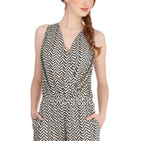 ModCloth Long Sleeveless Frond of You Romper