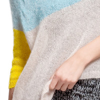 Super kid mohair knit sweater aqua sweater yellow transparent sheer light soft theknitkid THE KID KNIT Knitwear made in Germany Berlin
