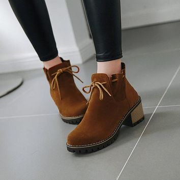 Women's Chunky Heeled Ankle Boots
