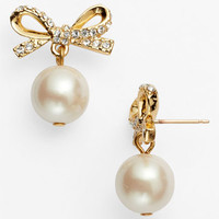 kate spade new york 'skinny mini' bow drop earrings
