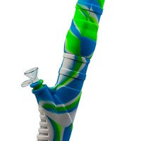 "Silicone Water Pipe - Leaning Tower (14.5"")(3 Colors)"