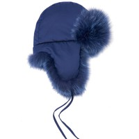 Micro-logo fox-fur lined trapper hat | Fendi | MATCHESFASHION.COM US